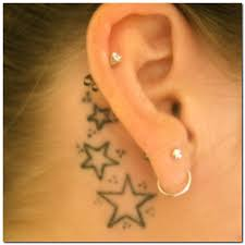 Star Tattoo Behind Ear 32