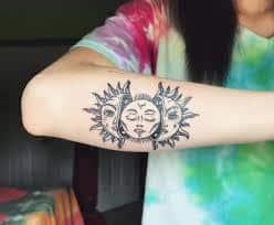 Sun and Moon Tattoos 14