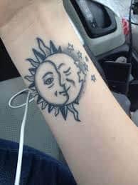 Sun and Moon Tattoos 21