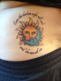 Sun and Moon Tattoos 26