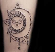 Sun and Moon Tattoos 34