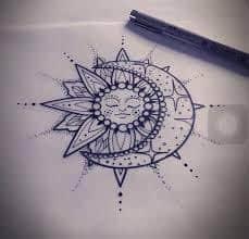 Sun and Moon Tattoos 46