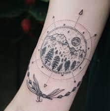 Sun and Moon Tattoos 47