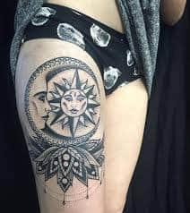 Sun and Moon Tattoos 5
