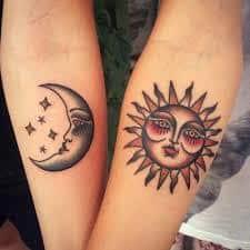 Sun and Moon Tattoos 52