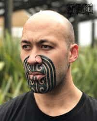 Chin Tattoo Meaning 30