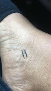 Equal Sign Tattoo Meaning 3