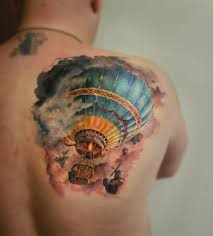 Hot Air Balloon Tattoo Meaning 20