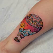 Hot Air Balloon Tattoo Meaning 23