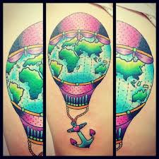Hot Air Balloon Tattoo Meaning 32
