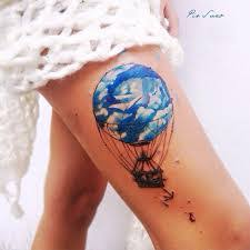 Hot Air Balloon Tattoo Meaning 37