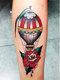 Hot Air Balloon Tattoo Meaning 42