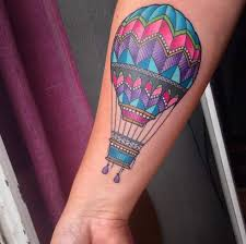 Hot Air Balloon Tattoo Meaning 44