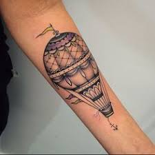 Hot Air Balloon Tattoo Meaning 45