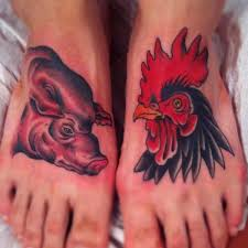 Pig and Rooster Tattoo Meaning 11