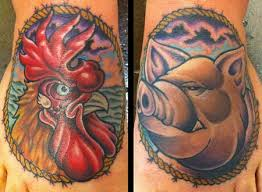 Pig and Rooster Tattoo Meaning 15
