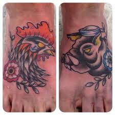 Pig and Rooster Tattoo Meaning 16