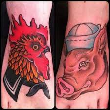 Pig and Rooster Tattoo Meaning 19