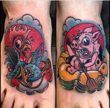 Pig and Rooster Tattoo Meaning 26