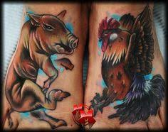 Pig and Rooster Tattoo Meaning 28