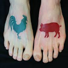 Pig and Rooster Tattoo Meaning 30