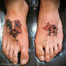 Pig and Rooster Tattoo Meaning 31