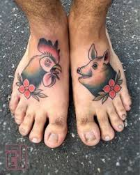 Pig and Rooster Tattoo Meaning 37