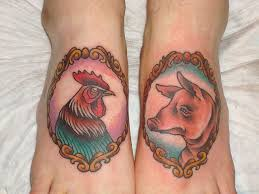 Pig and Rooster Tattoo Meaning 43