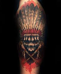 Indian Skull Tattoo Meaning 16