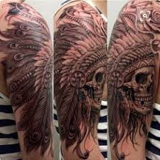 d93f738ee93c4 What Does Indian Skull Tattoo Mean? | 45+ Ideas and Designs