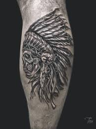 Indian Skull Tattoo Meaning 25
