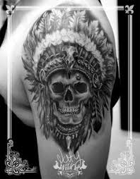 74a084a1087f5 What Does Indian Skull Tattoo Mean? | 45+ Ideas and Designs
