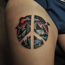 Peace Sign Tattoo Meaning 41