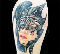 Masquerade Mask Tattoo Meaning 21