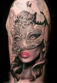 Masquerade Mask Tattoo Meaning 26