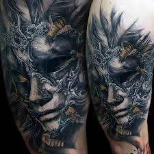 Masquerade Mask Tattoo Meaning 30