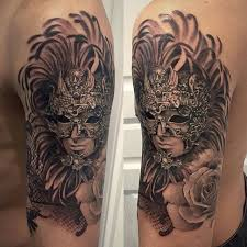Masquerade Mask Tattoo Meaning 37