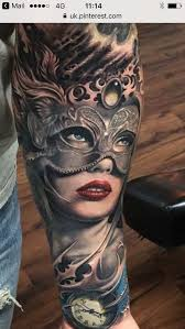 Masquerade Mask Tattoo Meaning 5