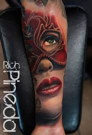 Masquerade Mask Tattoo Meaning 7