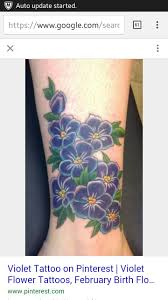 Violet Flower Tattoo Meaning 8