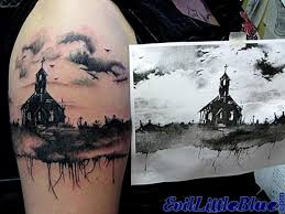 Cemetery Tattoo Meaning 36